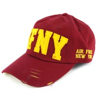 Topi Pria Ormano Baseball Snapback Air Force NY Cap - Merah