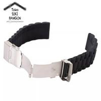 22mm Tali Jam Rubber Chain Watch Strap Silicone Model Rantai