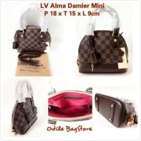 Tas LV Alma Damier Mini 18cm - LV Alma Mini Damier