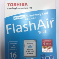 Toshiba FlashAir 16GB Wifi SD Card Wireless LAN Flash Air ORIGINAL