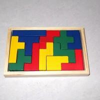 Jual Mainan Anak Tangram Tetris Kayu / Jigsaw / Puzzle Murah