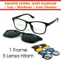 Jual Frame Kacamata Korea Minus Clip On 5 Lensa Anti Radiasi Polarized Rybn Murah