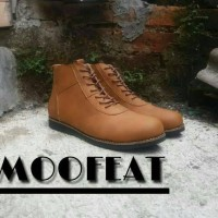 Sepatu Boots Pria Moofeat Brown Cowboy