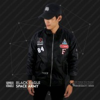 JAKET BOMBER BLACK EAGLE SPACE ARMY