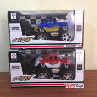 RC Mobil Bigfoot strong GT skala 1:24 warna Merah / Biru  Mainan anak
