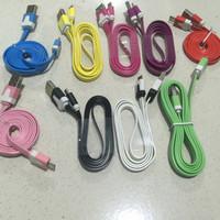 Kabel Data Gepeng 1Meter Candy Warna Warni (100cm) Toples Murah
