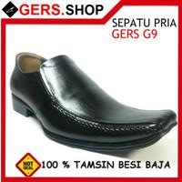Sepatu Kulit G9 handmade pria Formal Kantor Kerja Pesta pantofel