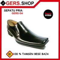 Sepatu Pria Gers G4 kulit asli handmade pria Formal Kantor Kerja pant