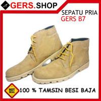 Sepatu Kulit Gers B7 Handmade Pria Formal Kantor Kerja Pesta Pantofe