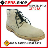 Sepatu Kulit Gers B8 Handmade Pria Formal Kantor Kerja Pesta Pantofel