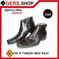 Sepatu kulit asli Gers B5 Handmade Pria Formal Kantor Kerja Pesta Pa