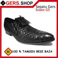 Sepatu Kulit Ular Snake G5 Sepatu Handmade Pria Formal Kantor Kerja P