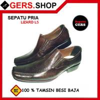 Sepatu Pria Gers Lizard L5 Brown