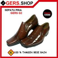 Sepatu kulit asli Gers G2 Handmade Pria Formal Kantor Kerja Pesta Pant