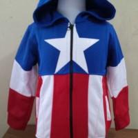 Jaket Anak Laki Captain America Logo Sweater Capten Amerika