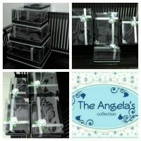 Kotak / Box Hantaran seserahan hitam + silver