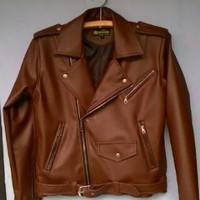 Jaket semi kulit sintetis|kulit korea|kulit asli Ramones