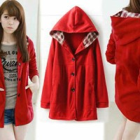 jaket melda red bhn beby tery + kotak LD 110 TO Fit XL
