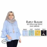 rufly denim blouse - tunik - top - atasan wanita - baju murah