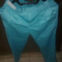 celana bahan warna biru tosca