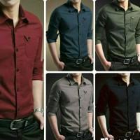 Jual Kemeja kerja pria | Baju cowok kantor | Hem lengan panjang polos murah Murah