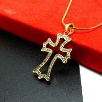 Kalung Liontin Titanium Salib / Cross Necklace HQ SS85Z2