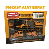 Diecast (Miniatur) Alat Berat Isi 4 / Mainan Mobil Truck Pajangan