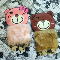 Xiaomi Redmi 3X Silicon 3D Rabbit Fur Bear Flurry Softcase Casing Hp