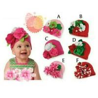 Jual Kupluk Bunga Flanel 3D Topi Bayi Flower Murah