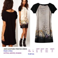 ASOS LEOPARD PRINTED DRESS. Made in China- FASHIONme FO
