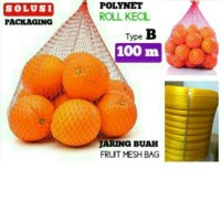 JARING BUAH 100 METER /POLYNET POLINET/FRUIT MESH BAG/KERANJANG BUAH