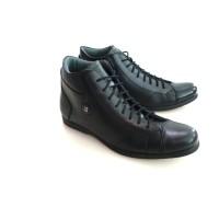 Jual Sepatu Boot pria Kulit BALLY 204 Hitam Murah