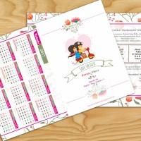 Undangan Pernikahan Kalender 2017