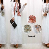 Jual Model Busana Baju Muslim Maxi Gamis Dress Pesta Batik Terbaru IYDB0786 Murah