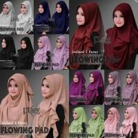 Jilbab instan 2 face flowing pad ori by flow