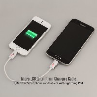 KABEL EMERGENCY from Micro USB to iPhone5-5s/iPad Mini / Power Bank