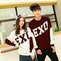 o CP EXO MAROON | Baju Korea Kaos Couple Lengan Panjang Fit L