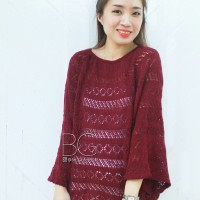 Outte Jaring Maroon Sweater