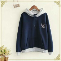 Love Cross Navy Sweater