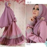 maxi jersey/gamis busui/dress renda/fashion/hijab syari/bigsize/plum