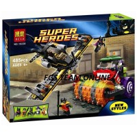 LEGO BELA 10228 SUPER HEROES BATWING VS THE JOKER STEAM ROLLER ISI 485