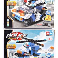 LEGO CHAOBAO 2416-2417 POLICE SERIES ISI 2 PCS