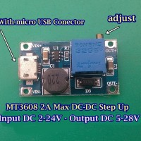 Jual Modul Step Up Micro USB Adjustable 2A DC Booster Power Supply Murah