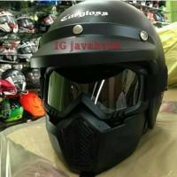 Jual Helm Retro Cargloss + Kacamata Goggle Masker Murah