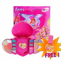 Jual Amara Beauty Kit Heart Makeup Anak Aman Free Kutek Gampang dikelupas Murah