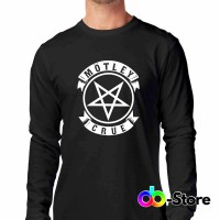T-shirt   Kaos Motley Crue Pentagram Logo