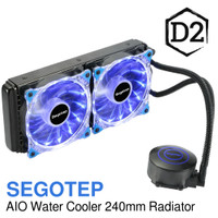BARU!! SEGOTEP AIO WATER COOLER 240mm RADIATOR - BLUE LED