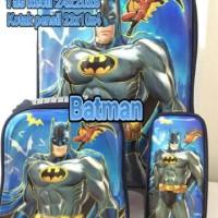 Tas Trolly Anak Batman 5D 3in1
