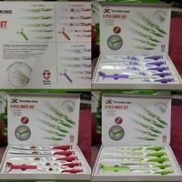 Pisau Dapur Kitchen Knife King 6 pcs anti bakteri dan karatan