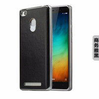 Back Case Cover Leather Kulit Xiaomi Redmi 3 Pro FREE TEMPERED GLASS